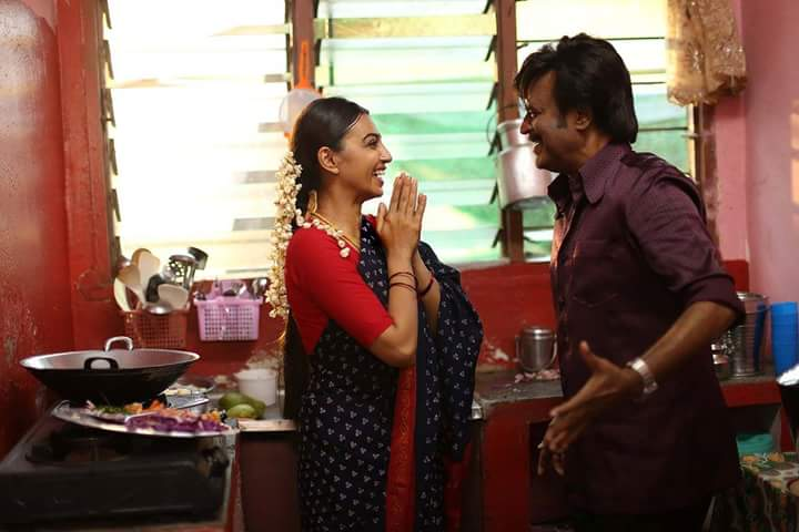 Rajinikanth and Radhika Apte in 'Kabali'.