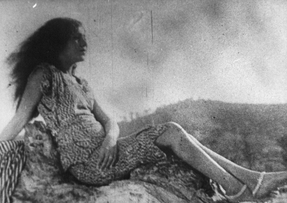 In a publicity still for the 1931 film 'Alam Ara', the first-ever Indian talkie, the actress Zubeida reclines upon a rocky peak, feet bare, hair loose and flowing, attired in a…now, wait. What is she wearing?