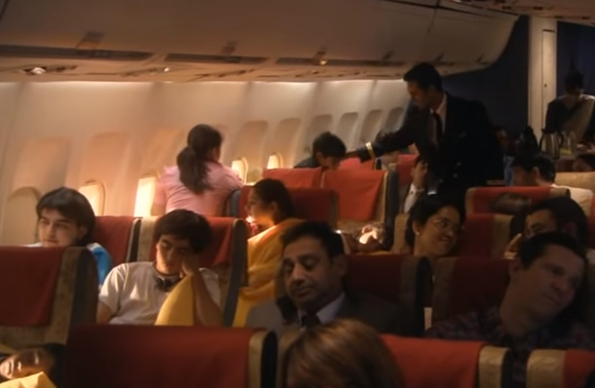 Recreation of the scene inside the Air India flight before the explosion. Air India 182 (2008).