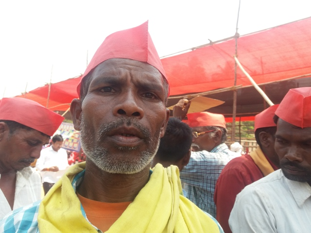 Lasu Bhoye is not able to get bank loans because his farm's land titles are not in his name.
