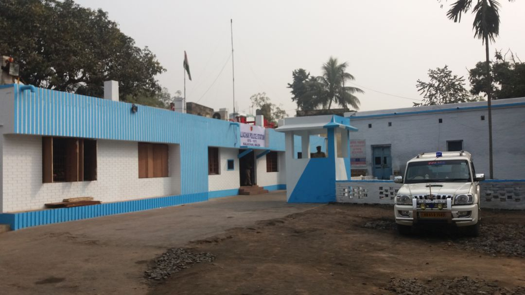 Kaliachak police station, all spruced up after Sunday's violence