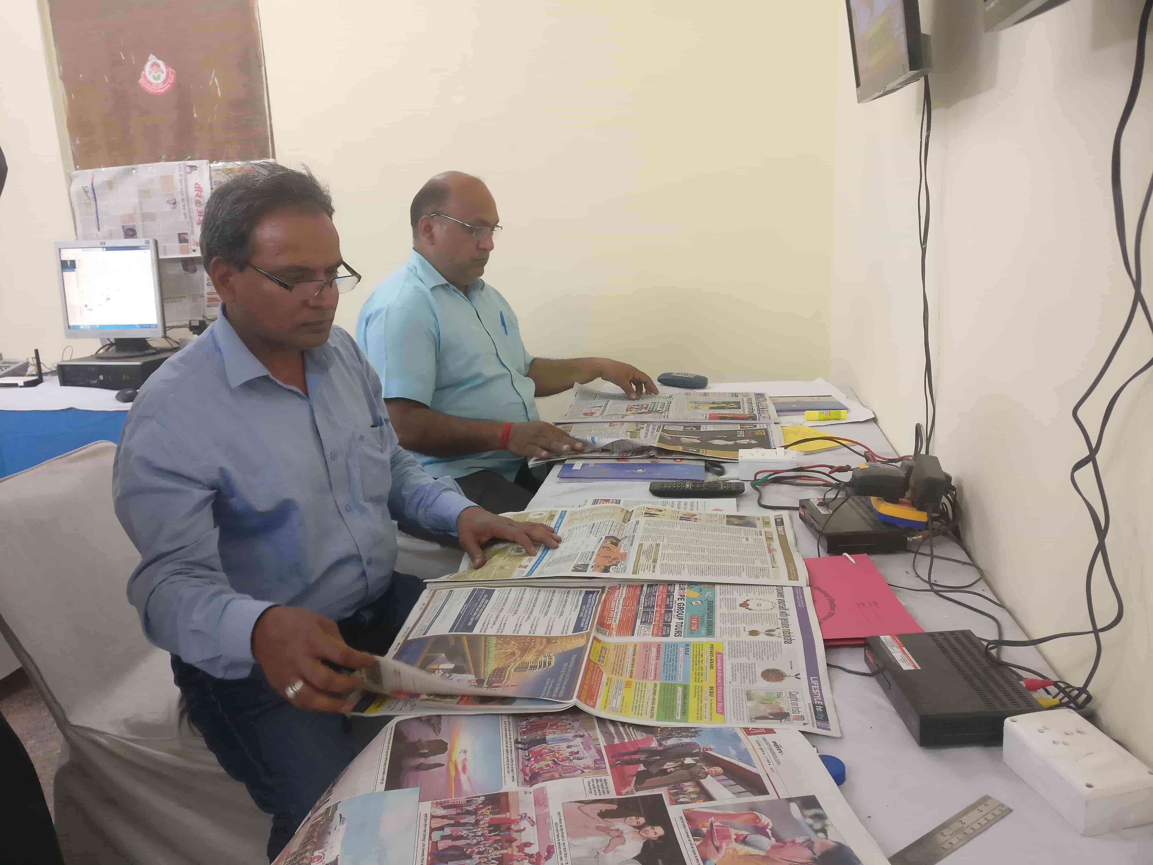 Members of South Delhi district's election control room check 28 newspapers each day and send reports to the returning officer who is part of the Media Certification and Monitoring Committee. (Photo credit:  Shreya Roy Chowdhury).