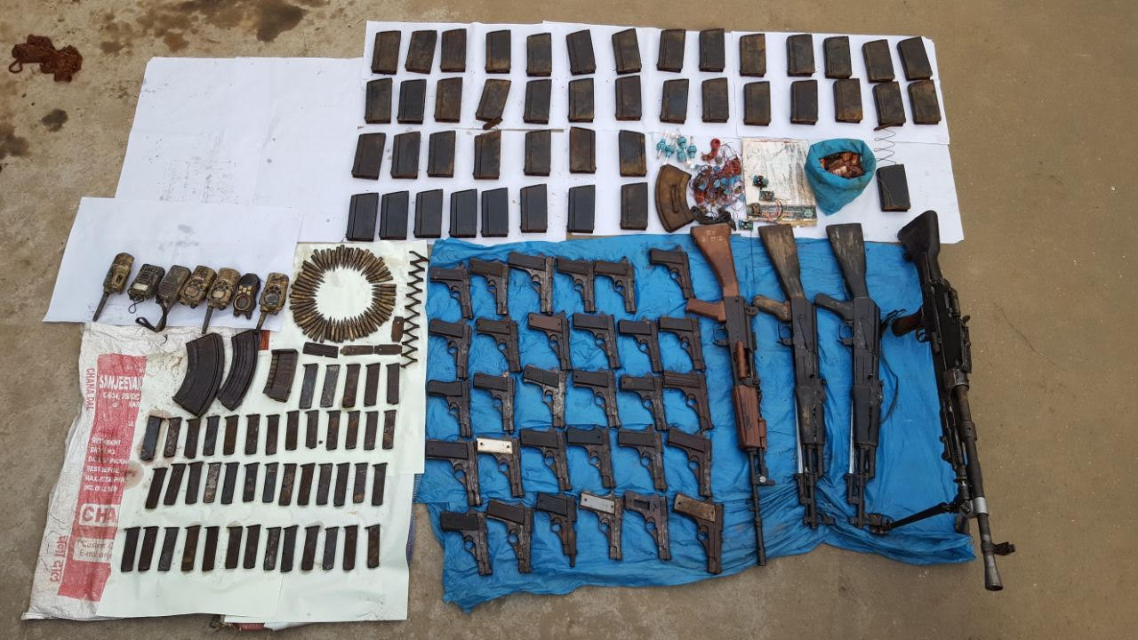 Arms, allegedly stashed away by the Garo National Liberation Army, discovered by the police in April
