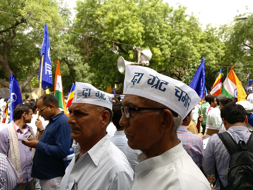 Participants at the Bhim Army rally in New Delhi on May 21. (Photo credit: Shoaib Daniyal).