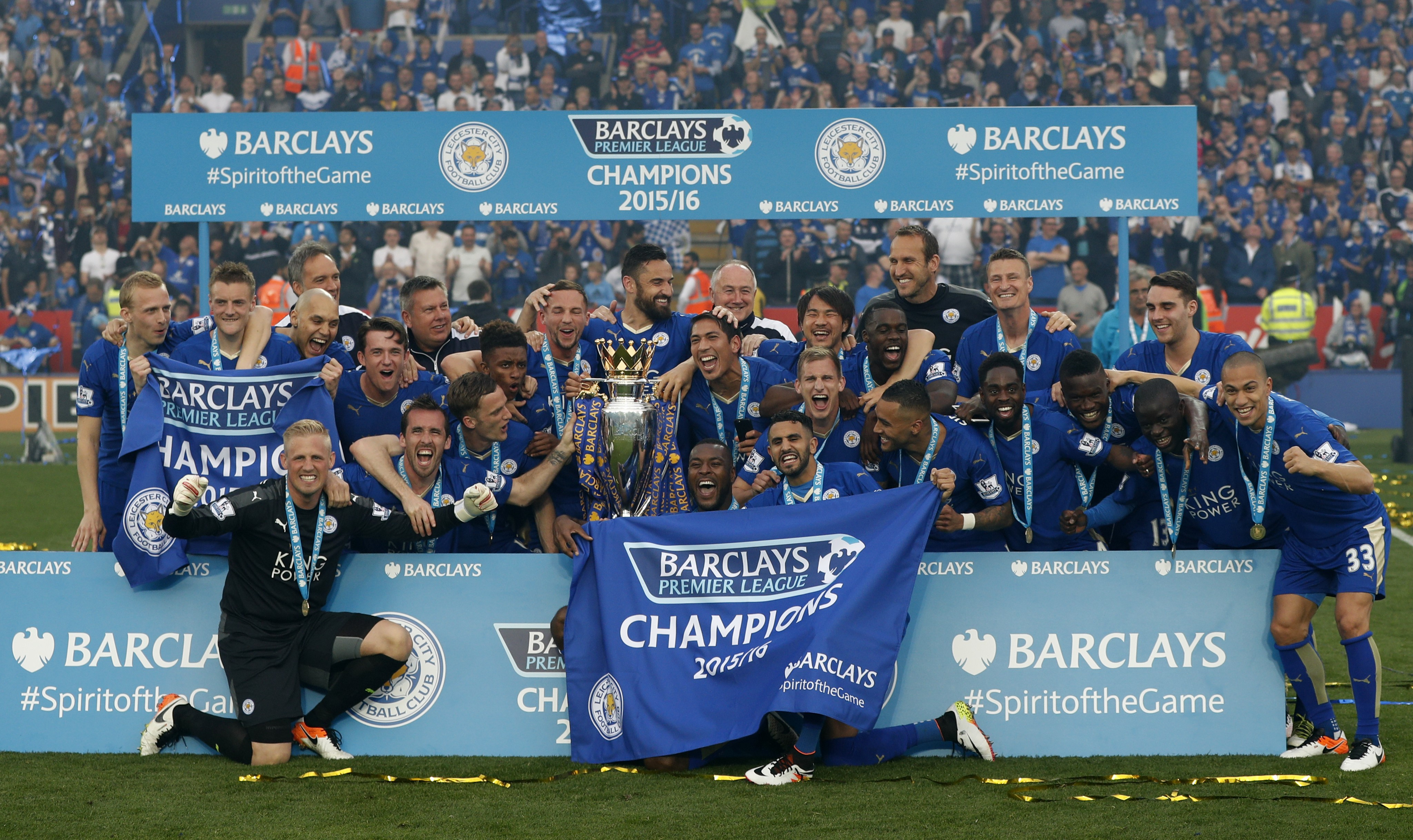 Leicester City defied all odds to win the Premier League (Image credit: AFP)