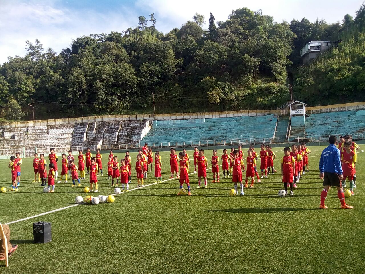 Training for the Young Legends League at the Chhangput Stadium is on. (Image courtesy: 8One Solutions)