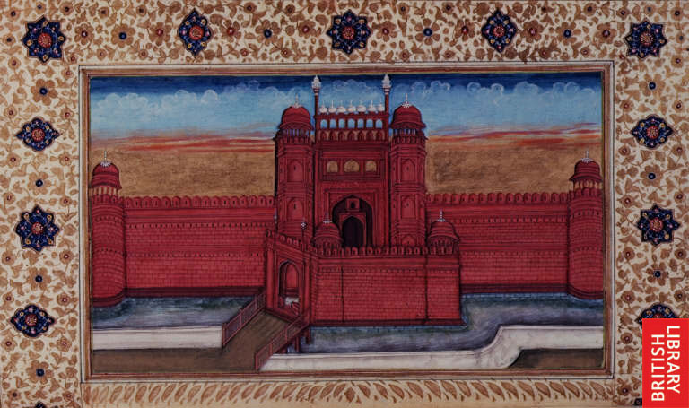 A painting of the Red Fort in the 1700s. Credit: British Library