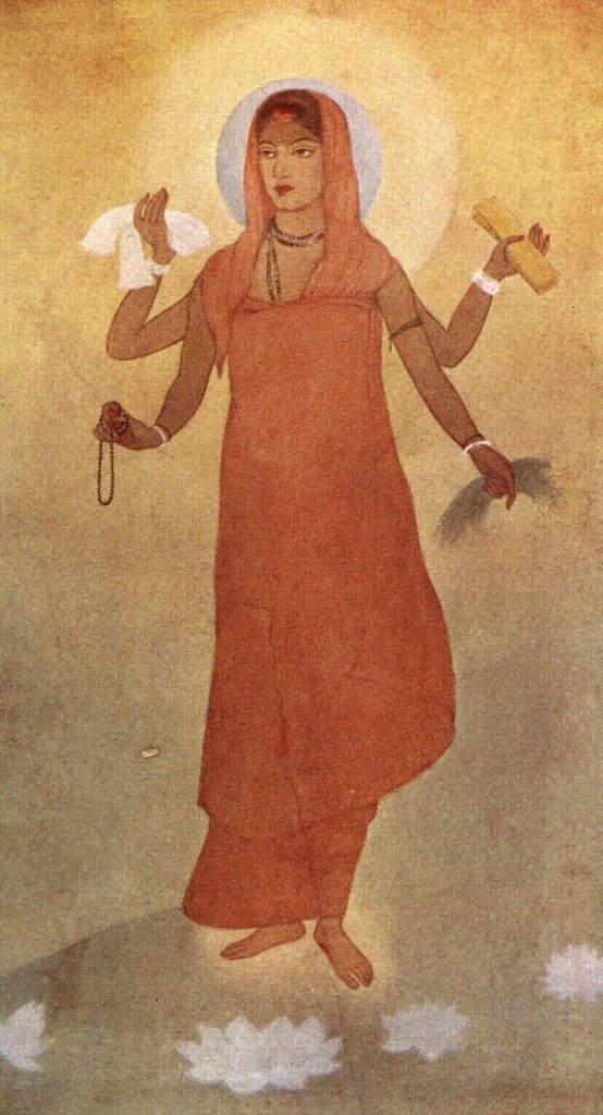 Abanindranath Tagore/ 'Banga Mata' water colour that he later decided to title 'Bharat Mata'.  1905.