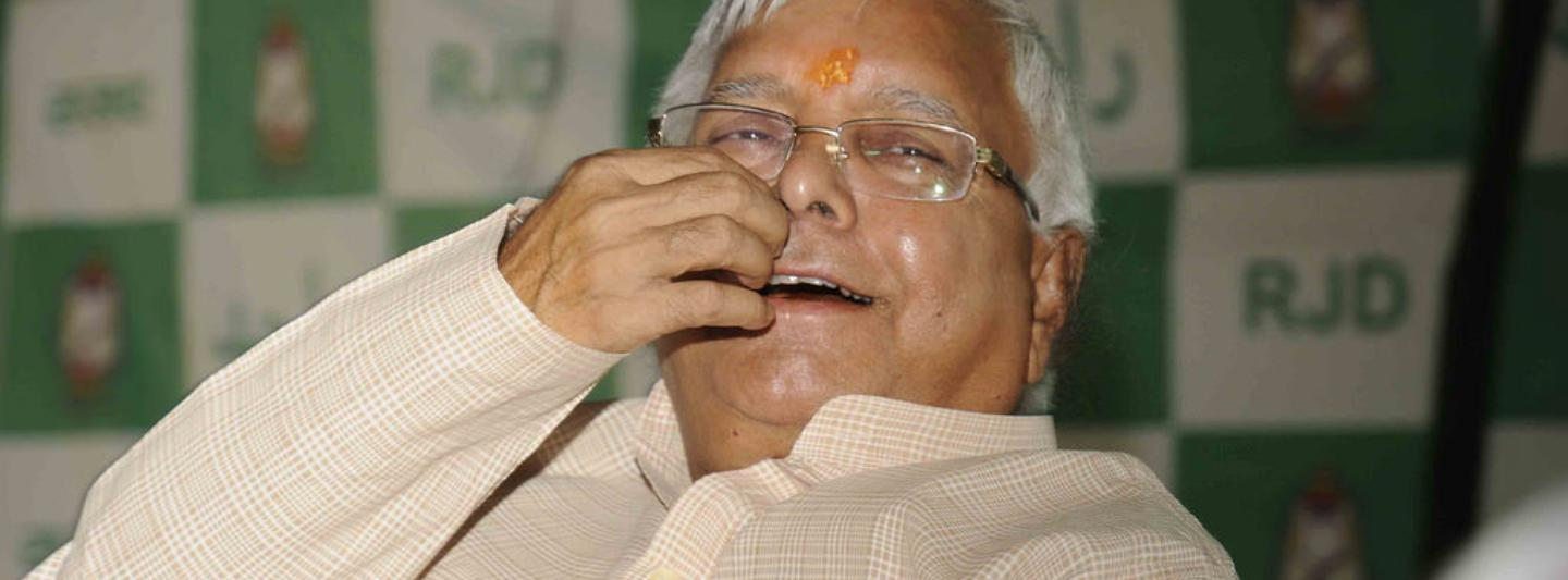 Lalu Prasad Yadav cast himself in the mould of a rustic leader of the masses.