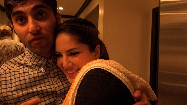 Sunny Leone and her brother, Sunny Singh Vohra. Courtesy Dilip Mehta.