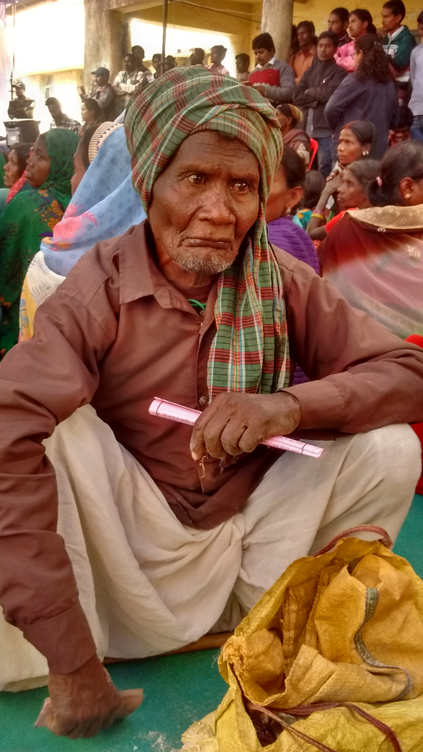 Butan Singh's ration was stopped a month after Jharkhand made it mandatory to link ration cards with Aadhaar. Photo credit: Anumeha Yadav