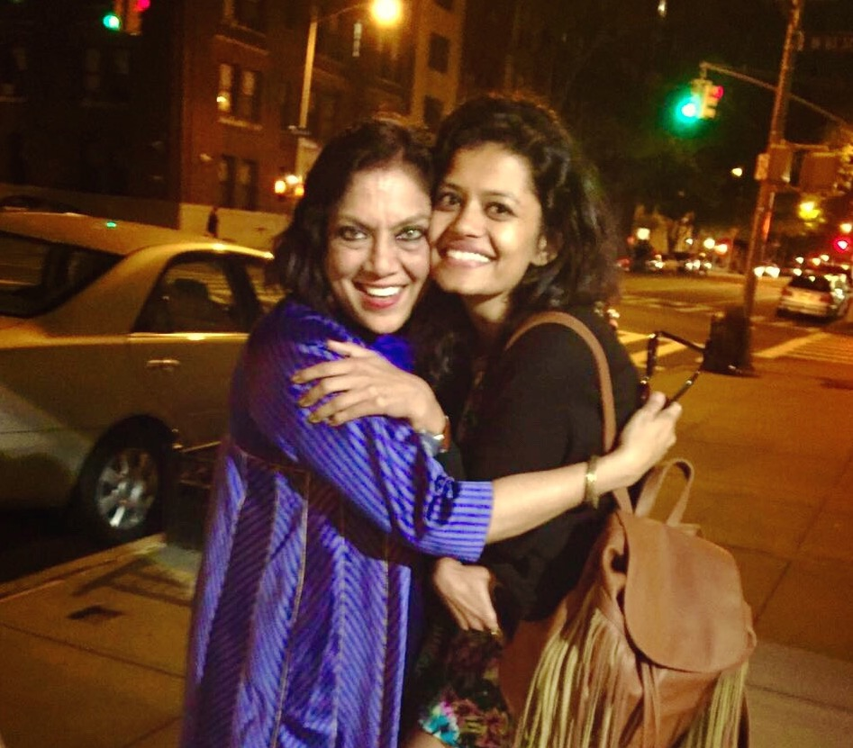 Palomi Ghosh (right) with director Mira Nair.