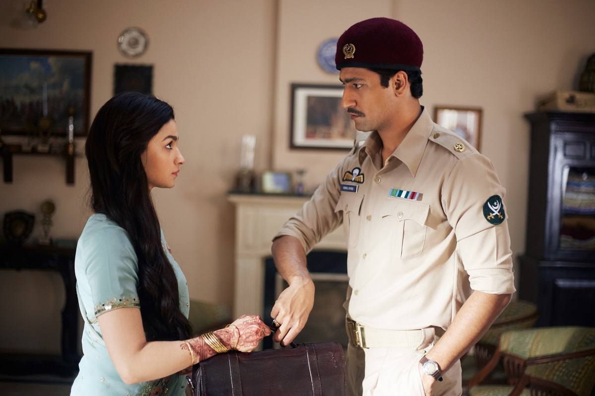 Alia Bhatt and Vicky Kaushal in Raazi. Image credit: Junglee Pictures/Dharma Productions.