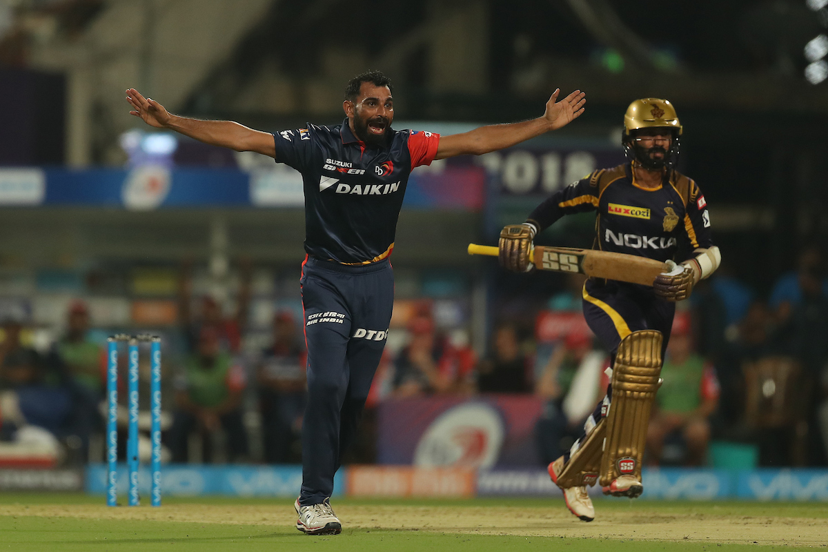 Mohammad Shami appeals for a leg-before decision against Dinesh Karthik | Image credit: Ron Gaunt / IPL/ SPORTZPICS