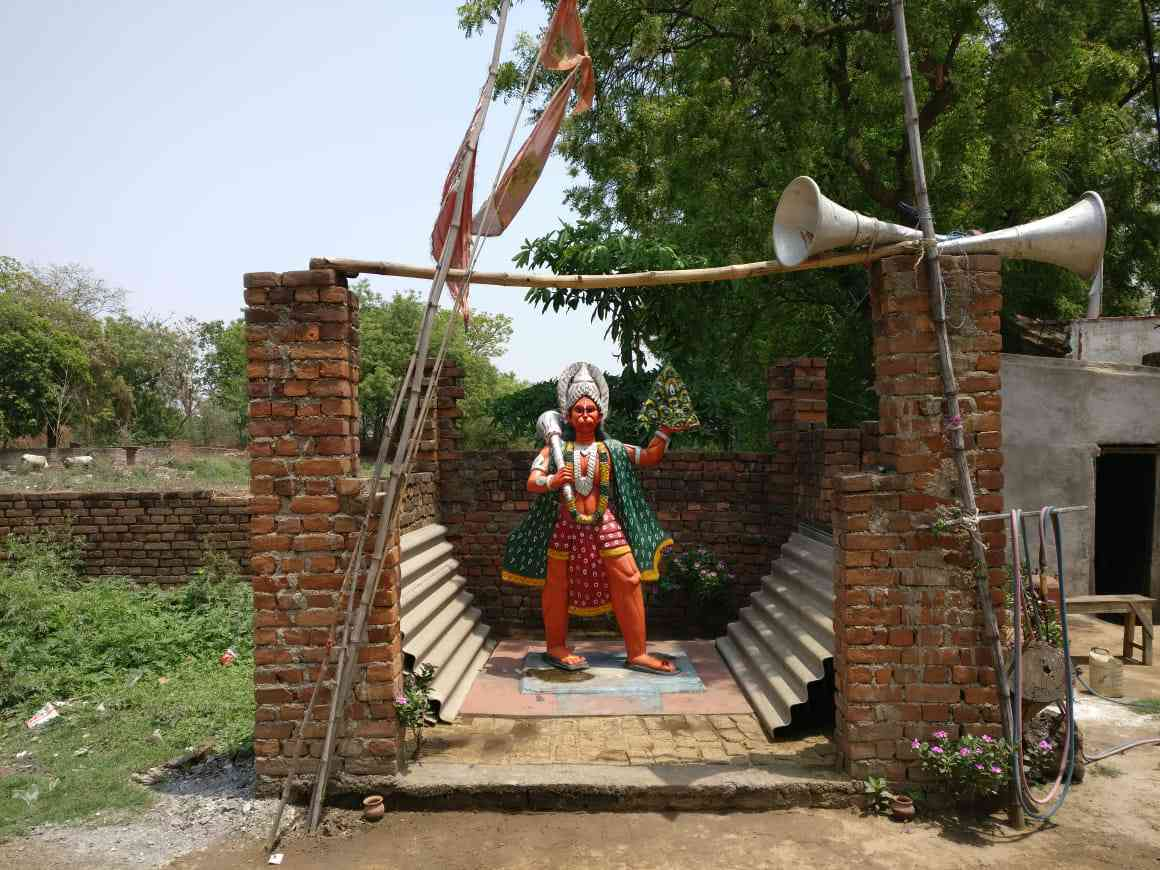 New Hanuman temples are a common sight in the Purulia countryside. Credit: Shoaib Daniyal