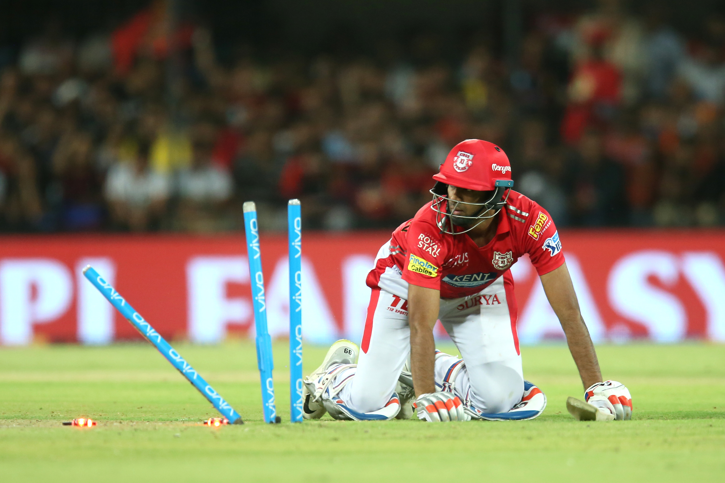 R Ashwin was one of three KXIP batters who ran themselves out (Image: Sportzpics/BCCI)