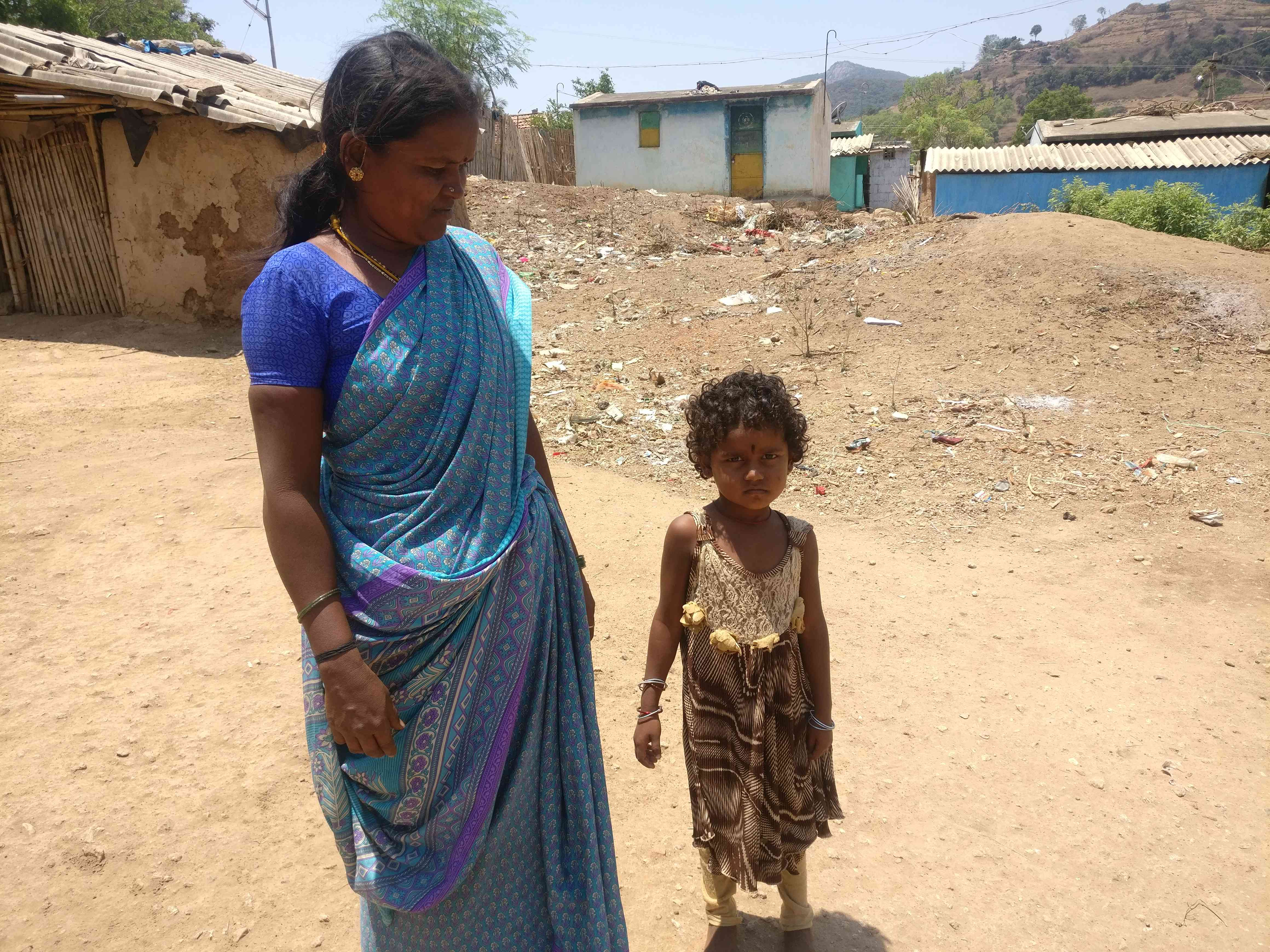 Rajamma with her four-year-old granddaughter who will start school this year. Photo credit: Nayantara Narayanan