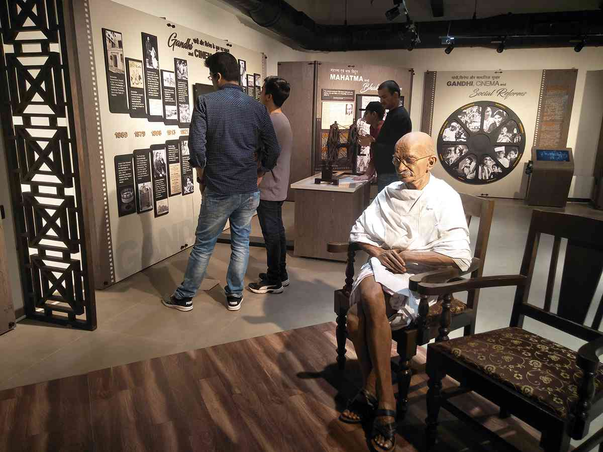 The Gandhi and Cinema exhibit. Courtesy Urmi Chanda-Vaz.