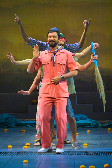 Namit Das as Dubey in the Monsoon Wedding musical.