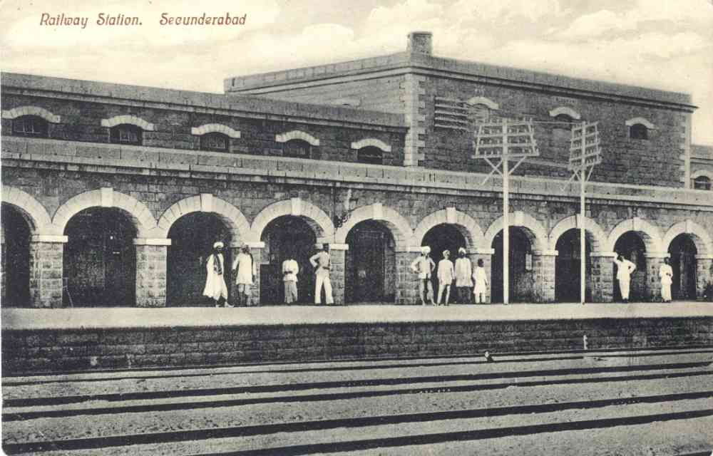 Title: Railway Station. Secunderabad Printer/Publisher: Printed in Saxony