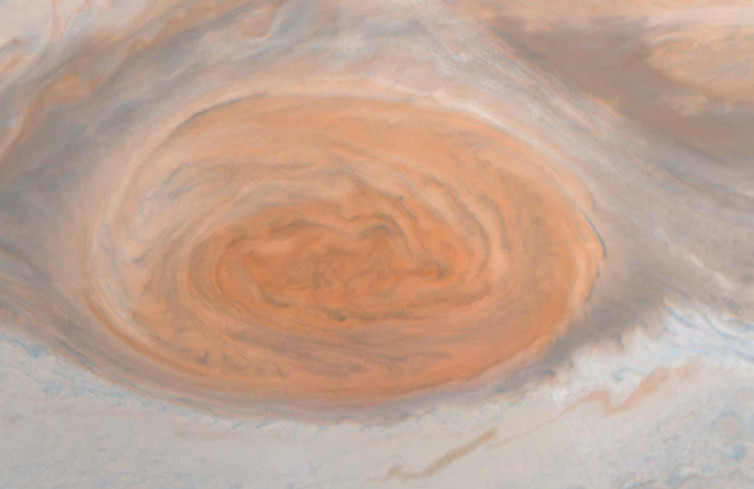 Jupiter's Great Red Spot in natural colour, by NASA's Galileo orbiter  NASA/JPL/Cornell University