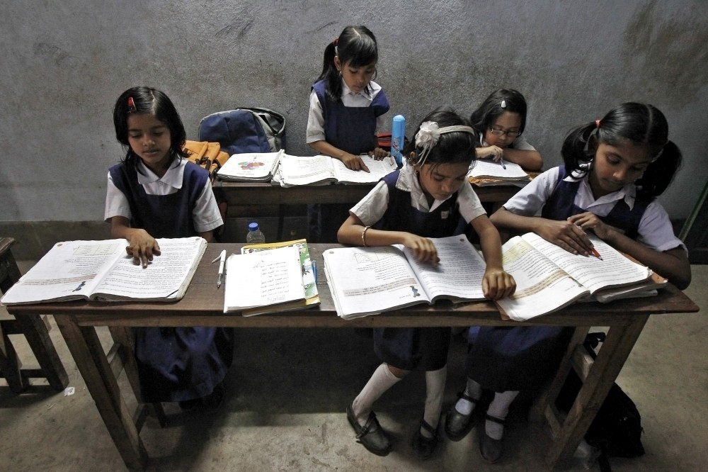A study has found that in 2015-'16, 10 of the 12 states covered had less than 80% of the funds needed to meet minimum elementary education standards. (Credit: Rupak De Chowdhury / Reuters)