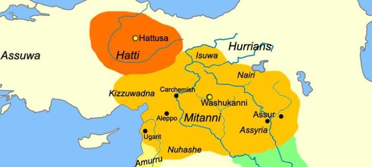 मितन्नी राजवंश के हर राजा का नाम संस्कृत में होता था. यही बात कई स्थानीय सामंतों पर भी लागू होती थी.