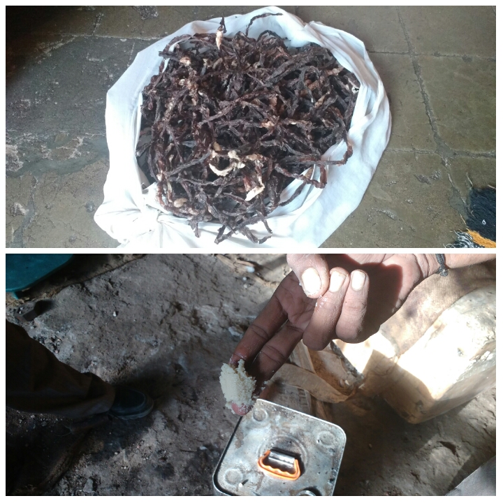 Dried beef strips and beef tallow used by Surendranagar's Dalits
