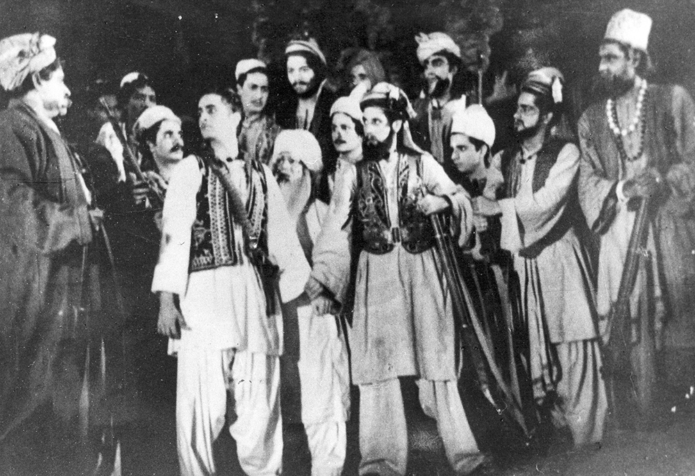 A scene from 'Pathan'. Image courtesy: Prithvi Theatre.