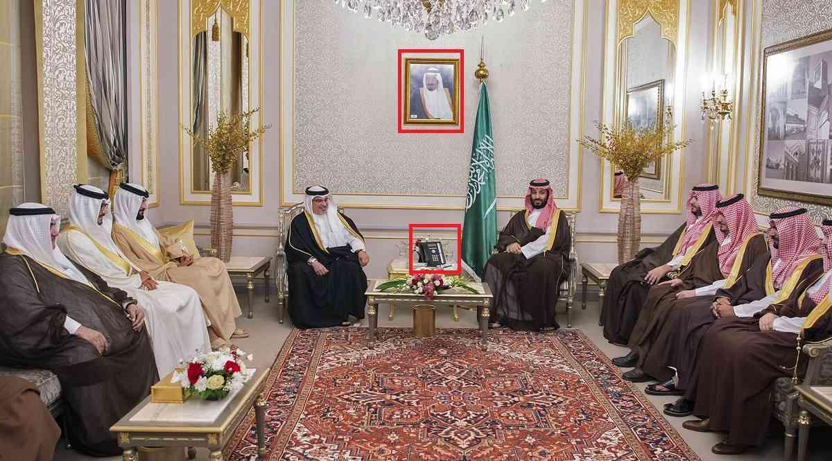 बहरीन समकक्ष सलमान बिन हामद बिन इसा ख़लीफ़ा के साथ प्रिंस सलमान (तस्वीर : एएफपी)