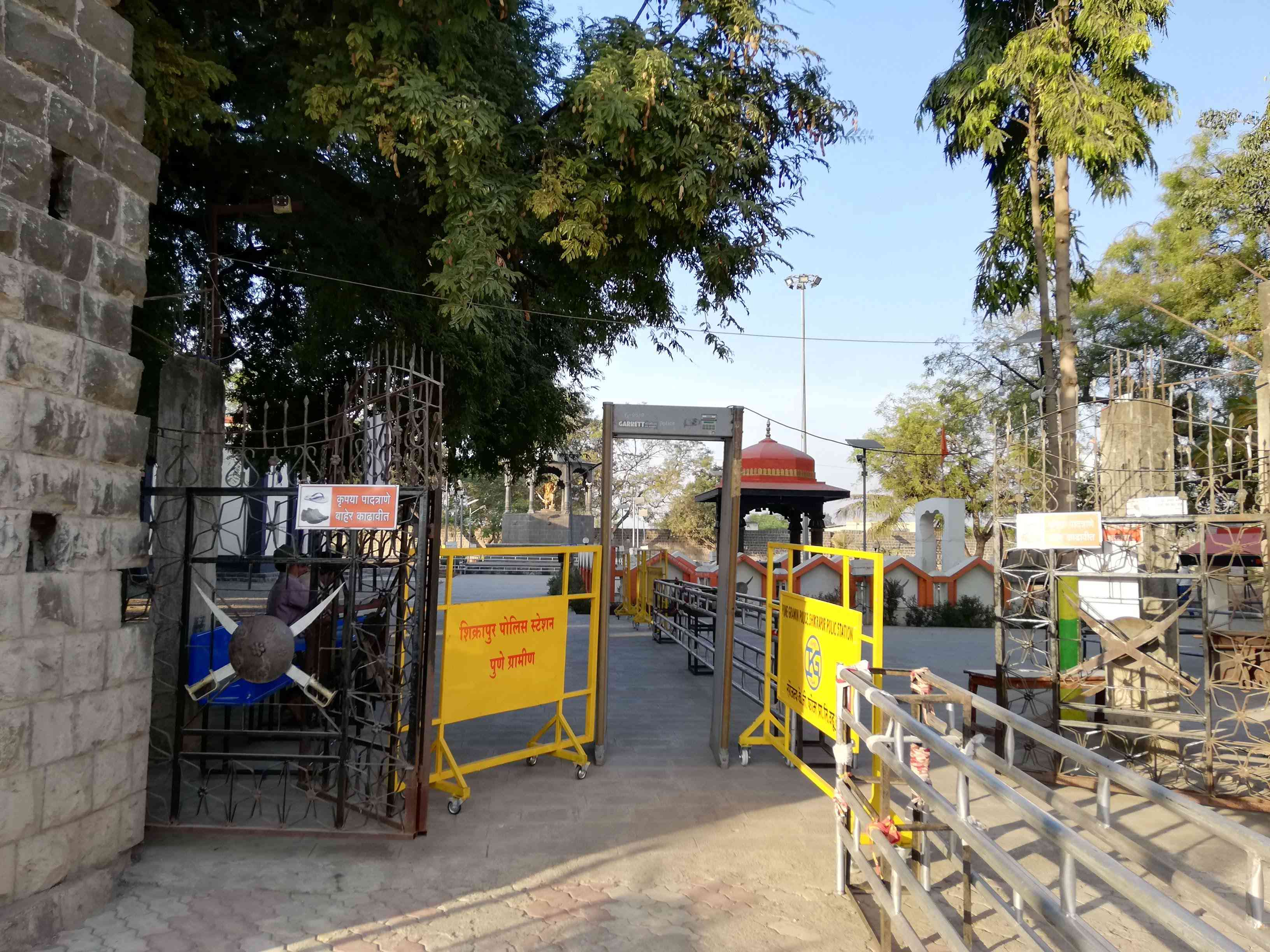 The entrance to the samadhi of Sambhaji.