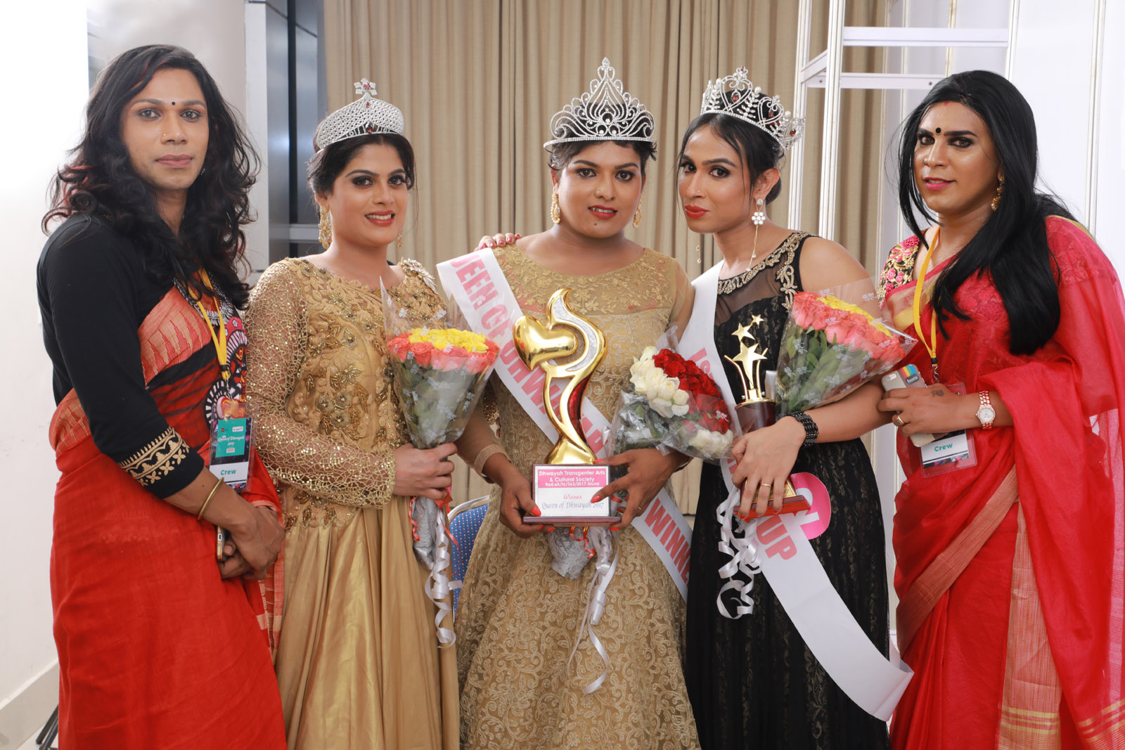 The winners with transgender activists Sheetal Shyam and Renju Renjimar. Photo credit: Justin Anthony