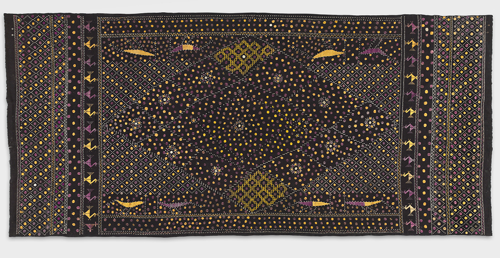 Handspun cotton plain weave with silk embroidery, unknown artist, Punjab, 20th Century. Photo Courtesy of Philadelphia Museum of Art.