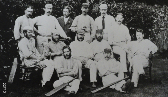 The England team that played the first ever Test. Image Credit: MCC