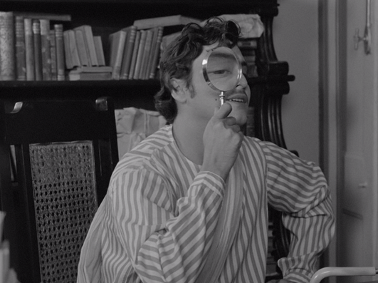 Soumitra Chatterjee in Charulata (1964).