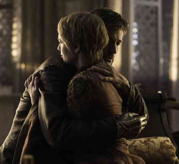Jaime (Nikolaj Coster-Waldau) and Cersei in Game of Thrones. Courtesy HBO.