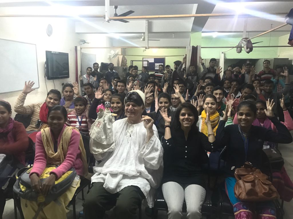 Reading at the Deaf Society, Noida