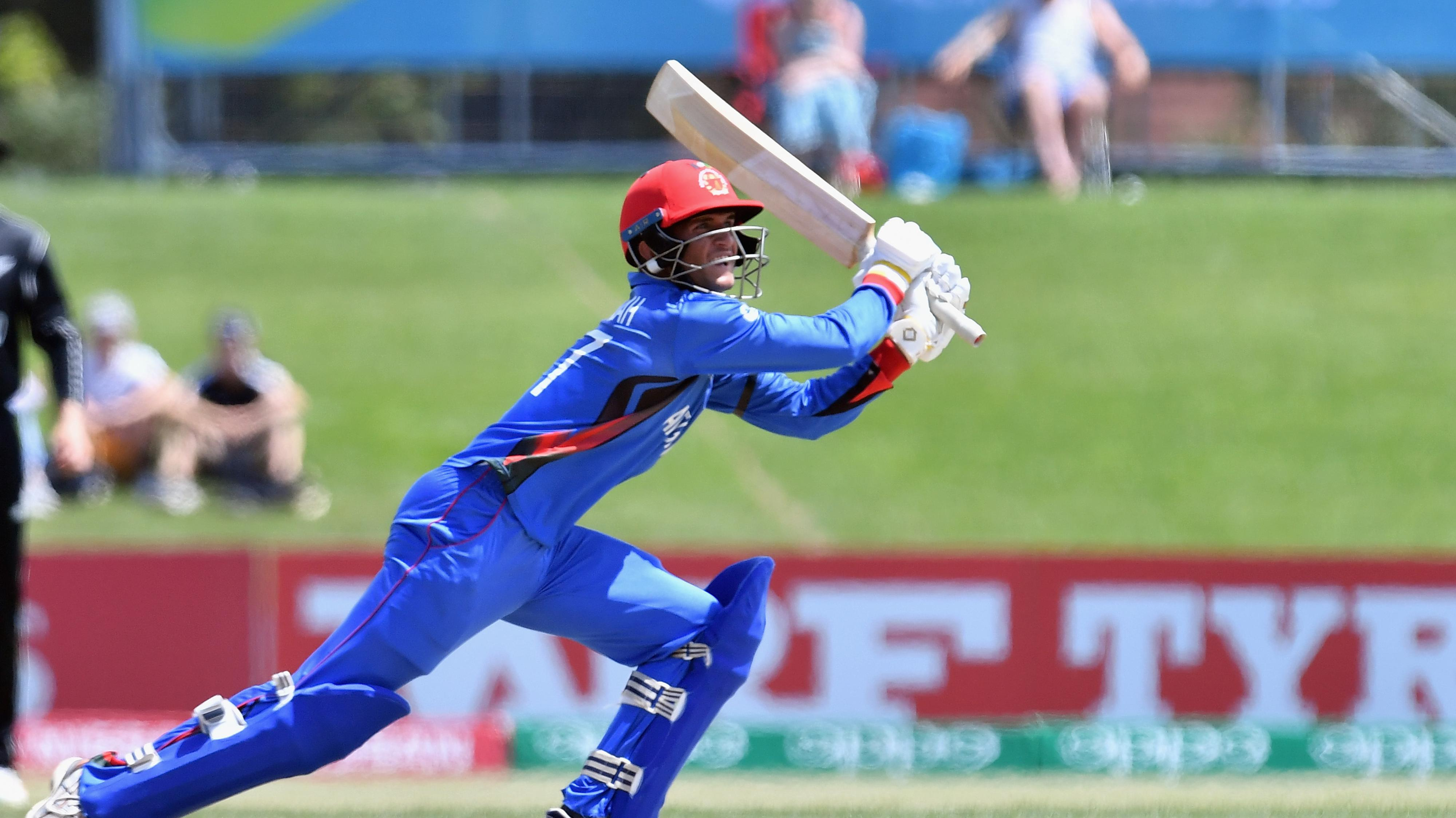 Azmatullah Omarzai hit 66 off 23 balls, helping Afghanistan loot 116 runs in the last 10 overs (Image: ICC)