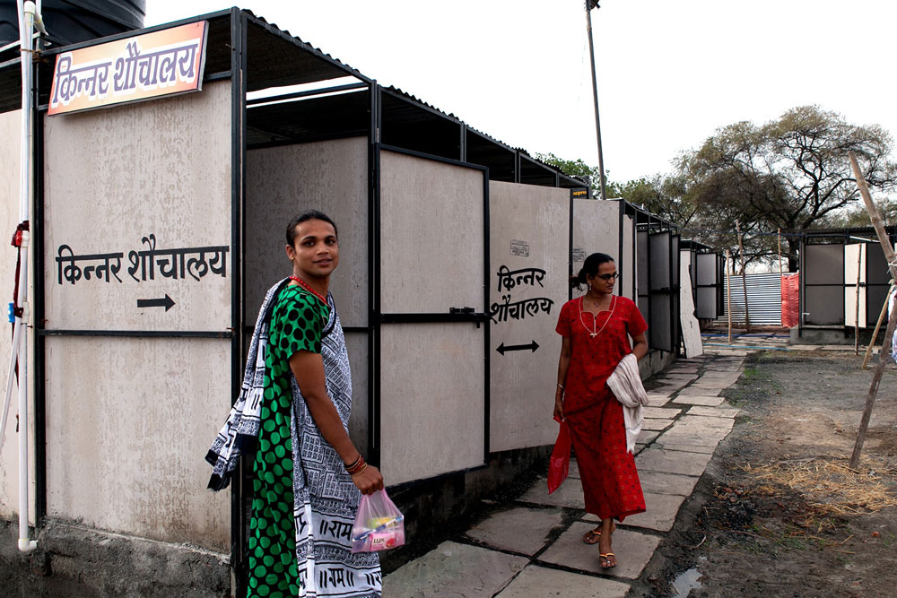Separate toilets for kinnars at the Ujjain Kumbh. [Photo credit: Punit Reddy]