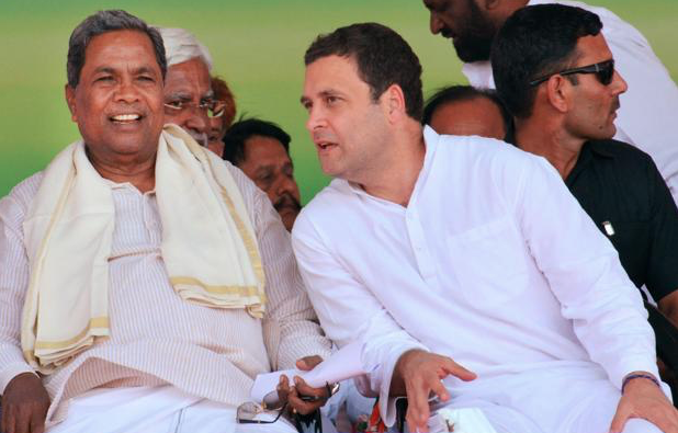While Karnataka Chief Minister Siddaramaiah is the Congress' chief campaigner and strategist for the state elections, a defeat will be put down to Rahul Gandhi's poor leadership and political immaturity. (Credit: PTI)