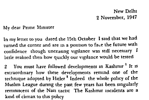 "Nehru writes to the the heads of the provincial governments calling them ""prime ministers"" two and a half months after independence."