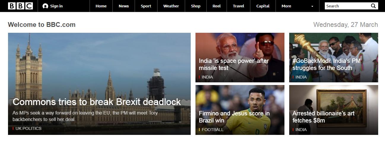 The BBC website.
