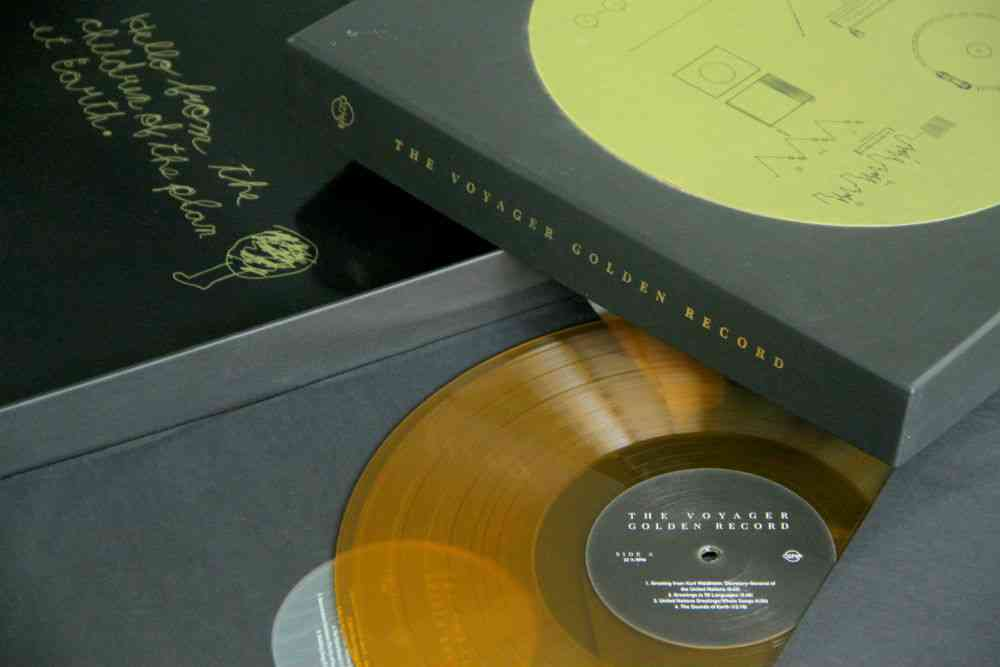 Among Chandvankar's possessions is the 40th anniversary reissue of  'The Voyager Golden Record'. Photo credit: Rudradeep Bhattacharjee.
