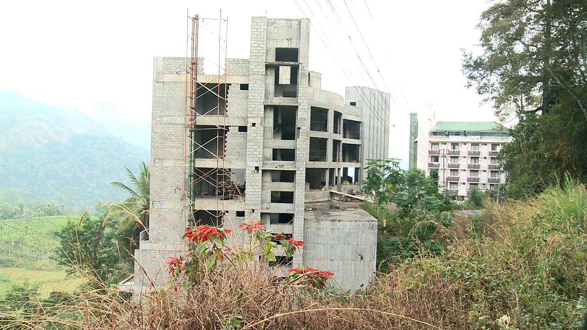 Constructions near the Pallivasal Hydro Electric Project in Munnar. The land belongs to Kerala State Electricity Board.