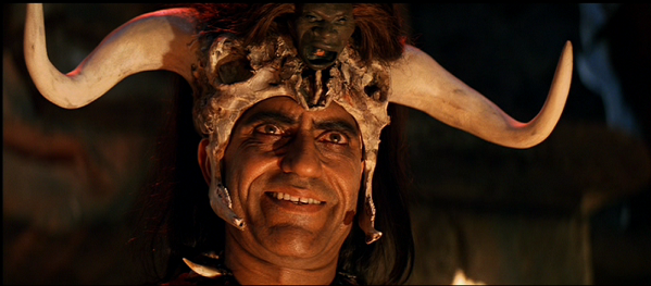 Amrish Puri as Mola Ram.