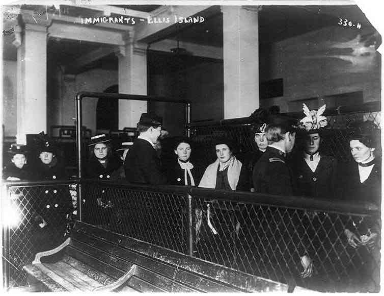 Immigrants on Ellis Island. Photo credit: Library of Congress Prints and Photographs Division Washington, D.C. 20540 USA