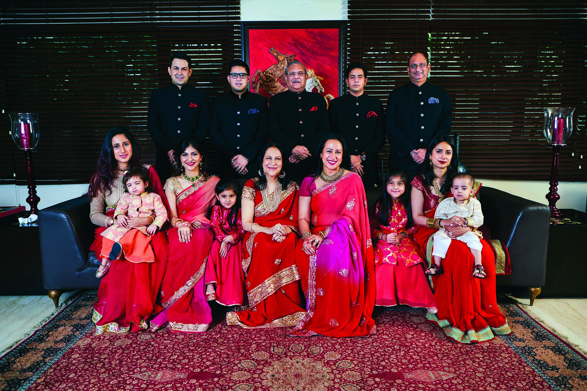 Doreen Hassan (seated, centre) and her family. Courtesy: Saffron and Pearls, Doreen Hassan, Harper Collins.