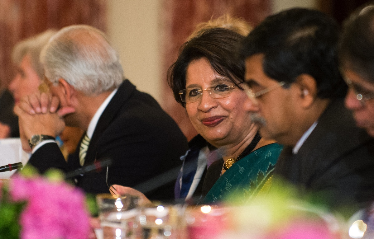 Nirupama Rao, then the Indian Ambassador to the US, attends the US-India Strategic Dialogue at the State Department in Washington, DC, in this photograph from June 13, 2012. (Photo credit: Jim Watson/AFP).
