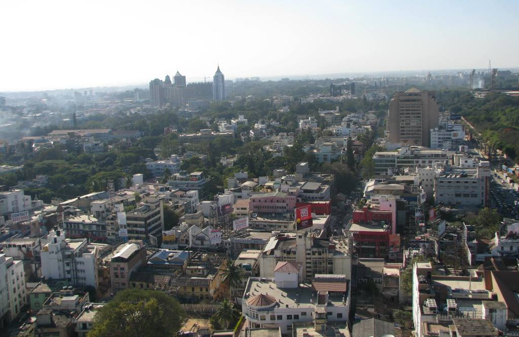 An aerial view of Bengaluru. Image credit: Amol Gaitonde/Wikimedia Commons [Licensed under CC Attribution-Share Alike 3.0]