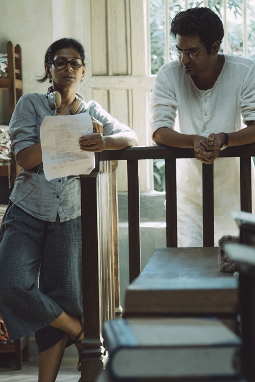Nandita Das and Nawazuddin Siddiqui on the sets of Manto. Image credit: Viacom18 Motion Pictures.